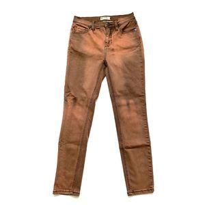 Free People Rust Tie Dye Stretch Skinny Jeans